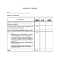 Rubric for Lip Sync Assignment