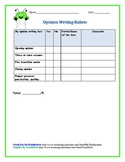 Rubric for Opinion Writing