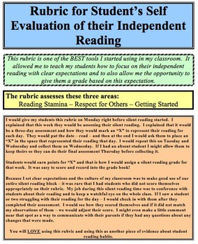 Rubric for Silent Independent Reading