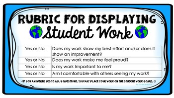 Rubric for Students to Display their Best Work