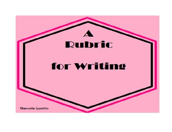 Rubric for Writing: Fiction and Nonfiction