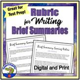 FREE Rubric for Writing a Brief Summary