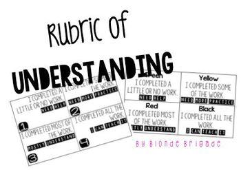 Rubric of Understanding