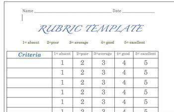 Rubrics (6 random ones)