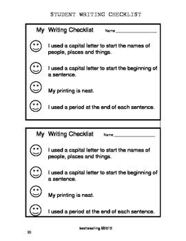 Rubrics and Checklists for Grades 1-3