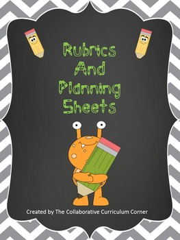 Rubrics and Planning Sheets for K-5 Writing