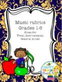 Rubrics and concert checklists bundle