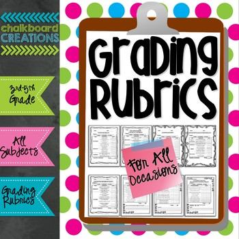 Rubrics for All Occasions: Common Core Aligned by Chalkboard Creations