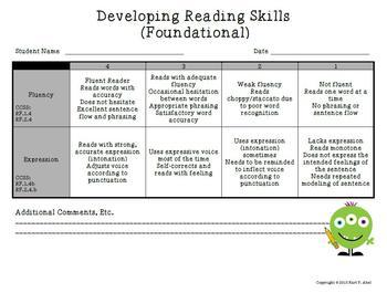 Rubrics for Developing Reading Skills