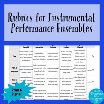 Rubrics for Band & Orchestra