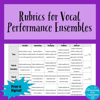 Rubrics for Choir