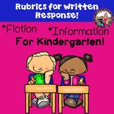 Rubrics for Written Responses-Fiction & Information-Kindergarten Version