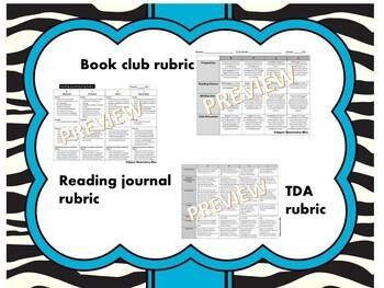 Rubrics for grading reading workshop components