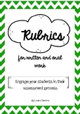 Rubrics for written and oral work