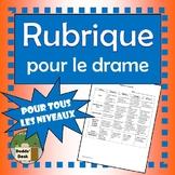 Rubrique pour le drame (Drama Rubric)