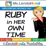 Reading Street, RUBY IN HER OWN TIME, Teacher Pack by Mrs.