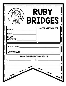 Ruby Bridges - Research and Activities to Celebrate Black History Month