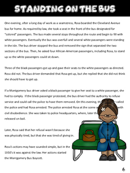 Rosa Parks Informational Text Study