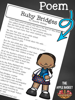 ruby bridges poem and reading comprehension questions by literacy 4 kids. Black Bedroom Furniture Sets. Home Design Ideas
