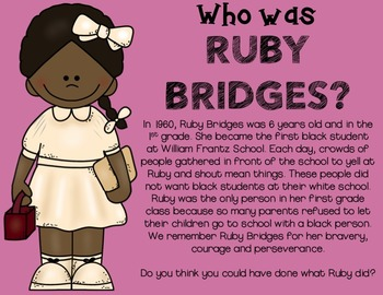 Ruby Bridges Unit for Primary Students