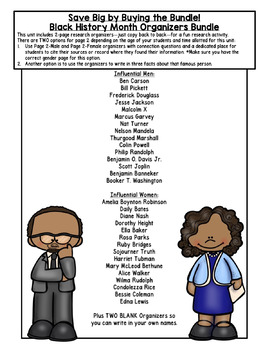 Ruby Bridges Research Organizers for Black History Month