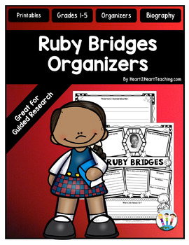 Ruby Bridges Organizers for Guided Research: Perfect for B