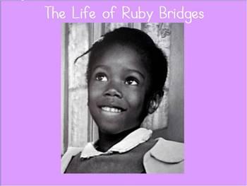 Ruby Bridges Biography Flipchart- Black History Month