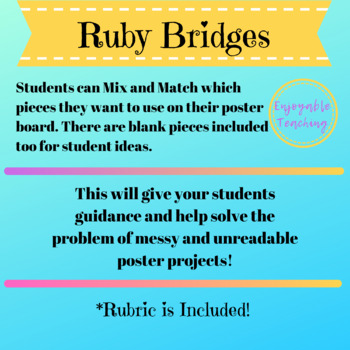 Ruby Bridges Biography Poster Kit