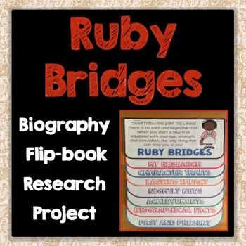 Ruby Bridges Biography Research Project, Flip Book, Famous Women