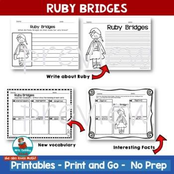 Ruby Bridges | Black History | Biography | Writing Prompts