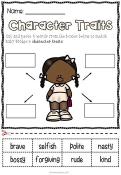 The Story of Ruby Bridges - Character Trait Activities (NO PREP)
