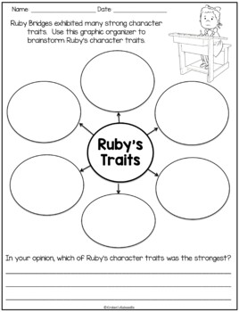 FREE Ruby Bridges Character Traits Activity