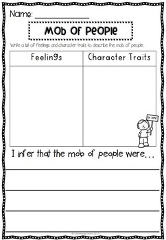The Story of Ruby Bridges - Character Traits Sorting