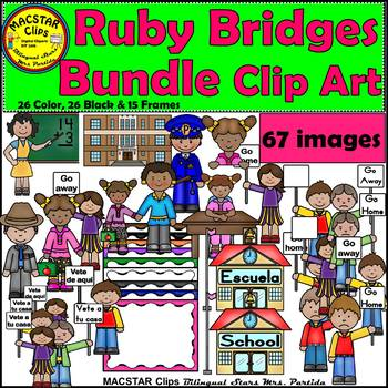 Ruby Bridges Clipart   Personal and Commercial Use Updated