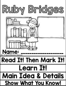 Ruby Bridges Close Reading Flip Flap