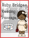 Ruby Bridges Biography Close Reading Passage and Questions