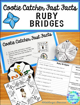 Ruby Bridges Cootie Catcher Fast Facts