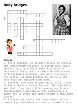 Ruby Bridges Crossword