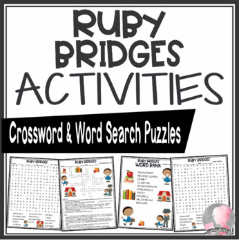 Ruby Bridges Crossword and Word Search Find Activities