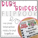 Ruby Bridges Flip Book (NO PREP) PLUS Colored Poster & Student Coloring Page