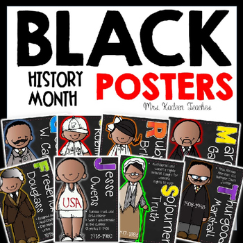 Ruby Bridges, George Washington Carver BLACK HISTORY MONTH POSTER PREVIEW