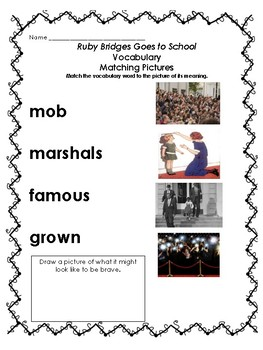 Ruby Bridges: Goes to School (Wit and Wisdom Grade Module 3 Lessons 14-18)