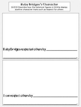 Ruby Bridges Graphic Organizer Set