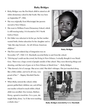 Ruby Bridges Informational Handout
