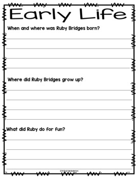 Ruby Bridges- Informational Writing