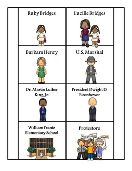 Ruby Bridges Mini Research Fold-Ems, Word Wall, and Writing Templates