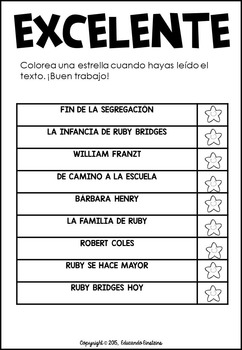 Ruby Bridges Non-Fiction Unit in Spanish