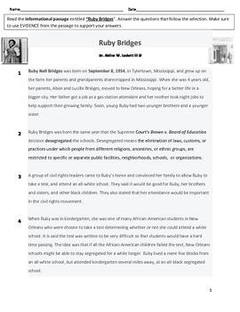 Ruby Bridges PARCC-like Reading Assessment