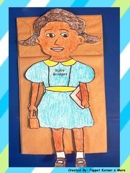Ruby Bridges Paper Bag Puppet
