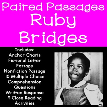Ruby Bridges Reading Comprehension Paired Passages By The Tulip Teacher